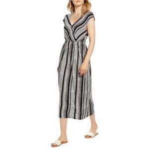 New Danielle Variegated Stripe Jersey Midi Dress M